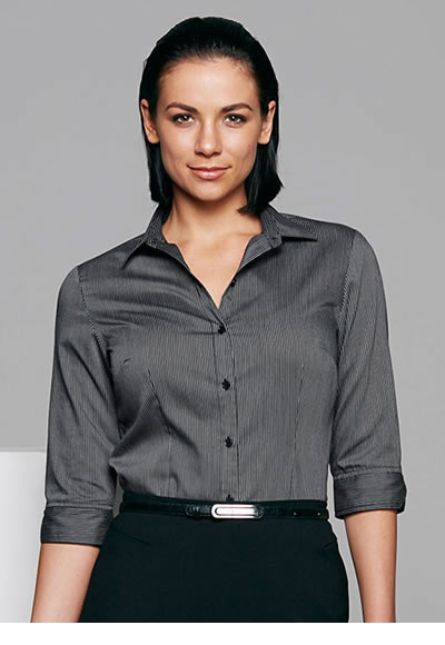 2900T LADIES HENLEY 3/4 SLEEVE SHIRT