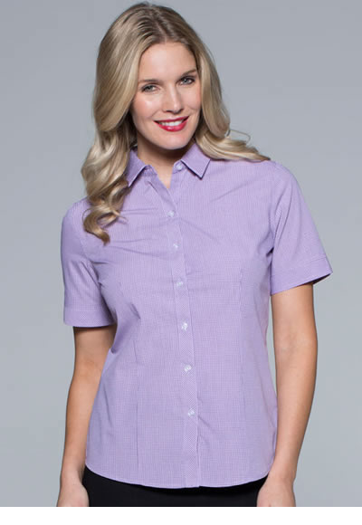 2901S LADIES TOORAK CHECK S/SLEEVE SHIRT