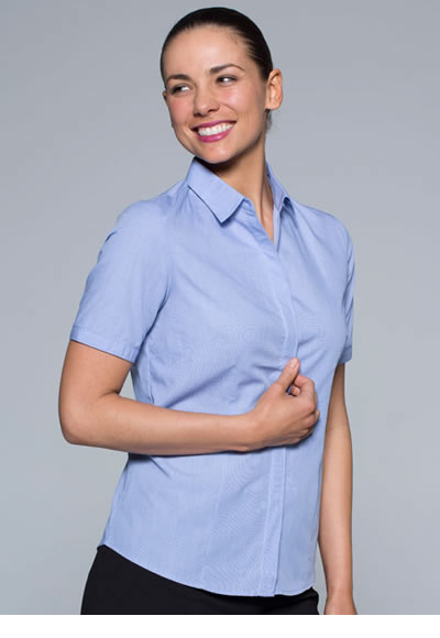 2902S LADIES GRANGE CHECK S/SLEEVE SHIRT
