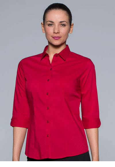 2903T LADIES MOSMAN STRETCH 3/4 SLEEVE SHIRT